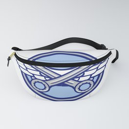 Crossed Spanner Air Force Wings Icon Fanny Pack