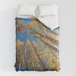 Aspen Trees Against The Sky In Crested Butte, Colorado for #Society6 Comforters