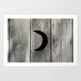 Outhouse Moon Art Print