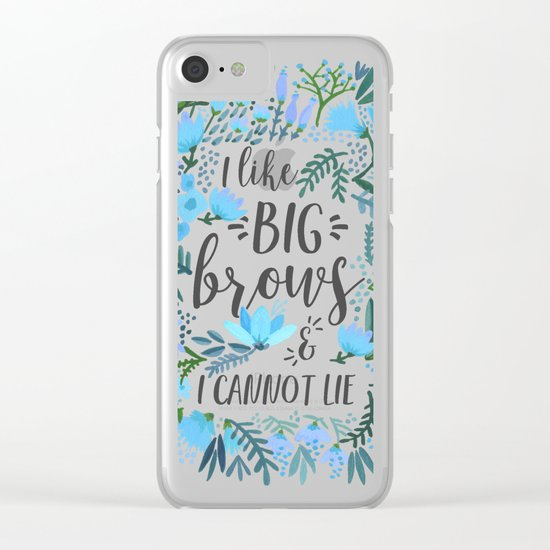 Big Brows – Blue Palette Clear iPhone Case