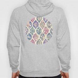 Patterned & Painted Floral Ogee in Vintage Tones Hoody