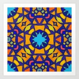 Bohemian Kaleidoscope Art Print