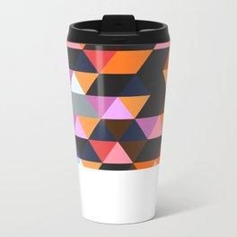 Funky Geometric Metal Travel Mug