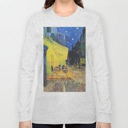 Café Terrace at Night by Vincent van Gogh Long Sleeve T-shirt