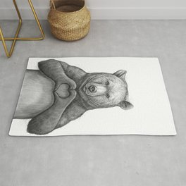 Bear with love Rug