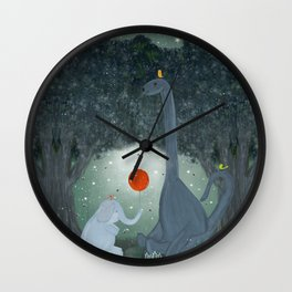 the last dinosaur Wall Clock