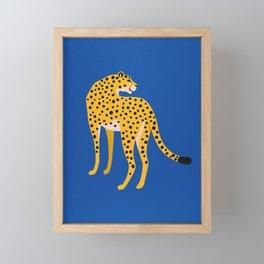 The Stare 2: Golden Cheetah Edition Framed Mini Art Print