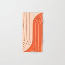 Two Tone Line Curvature XI  Hand & Bath Towel