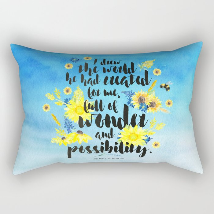 Me Before You - Wonder and Possibility Rectangular Pillow