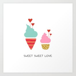 Ice Cream lovers Art Print