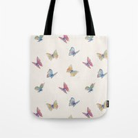 butterflies Tote Bags featuring Butterflies by Tracie Andrews