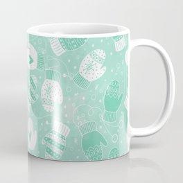 Winter Mittens Mint Coffee Mug