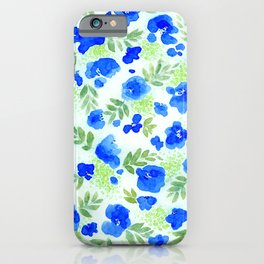 Floret (Blue) iPhone Case