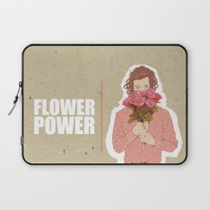 Flower Power - Salmon Red Laptop Sleeve