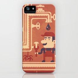 Mario at work iPhone Case