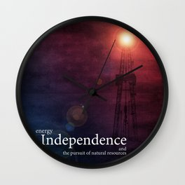 Energy Independence Wall Clock