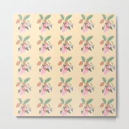 Various Plants Pattern Metal Print