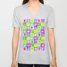 Rainbow Charms Unisex V-Neck