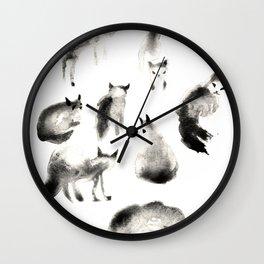 Cats Study Wall Clock