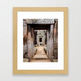 Ancient Doorway Framed Art Print