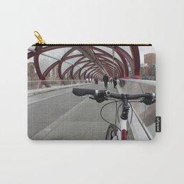 Bike on Peace Bridge Carry-All Pouch