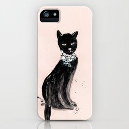 Spoiled Kitty Lifestyle Illustration iPhone Case
