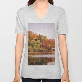 Autumn Colors Are the Best Colors - New York City Unisex V-Neck