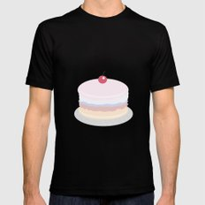 Cake Black MEDIUM Mens Fitted Tee