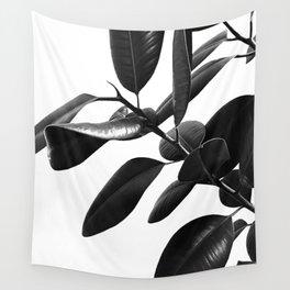 Ficus Elastica Black & White Vibes #1 #foliage #decor #art #society6 Wall Tapestry