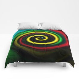 Swirling colours. Comforters