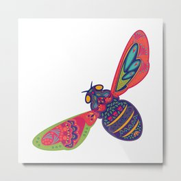 Kaleidoscope Bee Metal Print