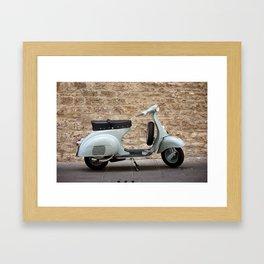 Italian vintage motorcycle Framed Art Print