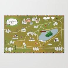 Map of Laurelhurst Park Canvas Print