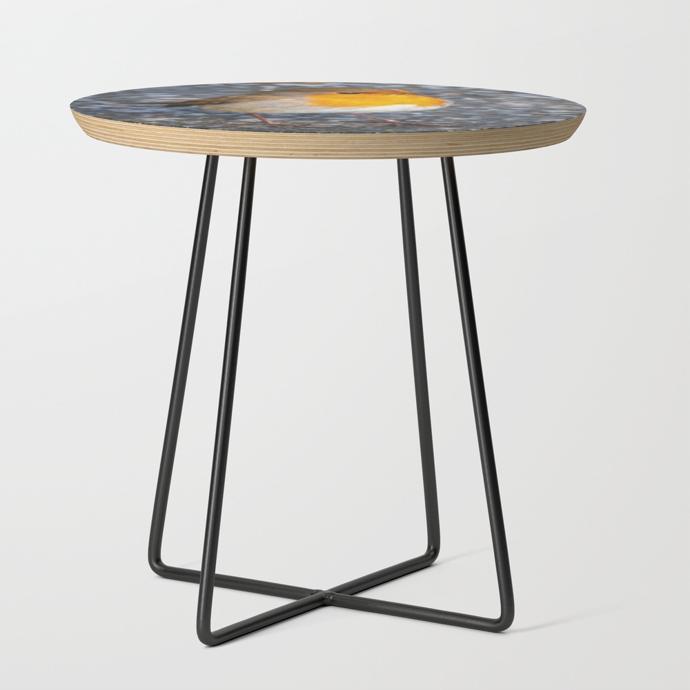 Robin Redbreast Round Side Table with Black Legs by Adrianevans (STD10082638) photo