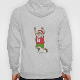 Santa Claus Father Christmas Running Marathon Cartoon Hoody