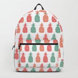 Tropical Pineapple Print Backpack
