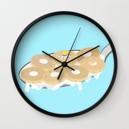 Space Odyssey | Astronaut Crispy Oats | Cereal | Space | Food | Breakfast | pulps of wood Wall Clock