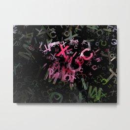 Pink Roses in Anzures 6 Letters 1 Metal Print