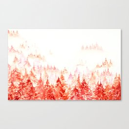 Pines Forest-abstract watercolor Canvas Print