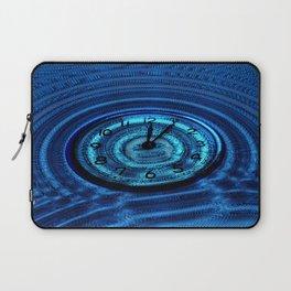 Hands of Time Blue Rippling Water Art Motif Laptop Sleeve