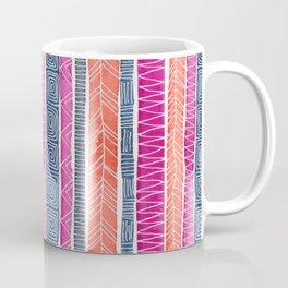 Watercolor Sunset Patterned Stripes Coffee Mug