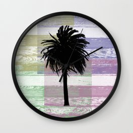 Palm and colors Wall Clock
