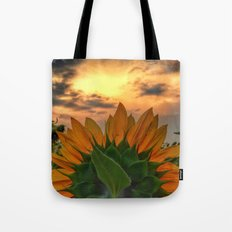 sunflower in the sunset Tote Bag