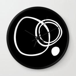 Black and White Circles Abstract Modern Wall Clock