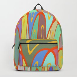 Distorted squares and circles Backpack