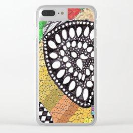 Zen Doodle zz04 - color Clear iPhone Case