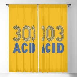 303 Acid Rave Quote Blackout Curtain