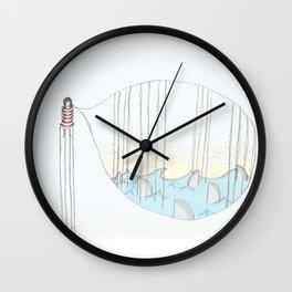 Toen bleek het een goudvis..... Wall Clock