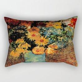 Van Gogh, vase– Van Gogh,Vincent Van Gogh,impressionist,post-impressionism,brushwork,painting Rectangular Pillow