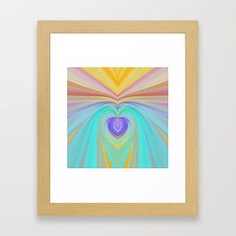 Only love will save this world, romantic rainbow print Framed Art Print